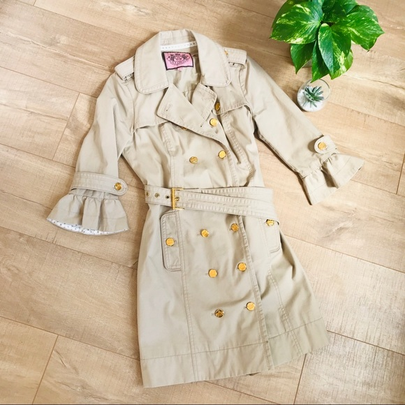 Juicy Couture Jackets & Blazers - Juicy Couture Ruffled Trench Coat C0191